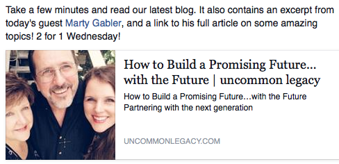 UnCommon Legacy How Build Future